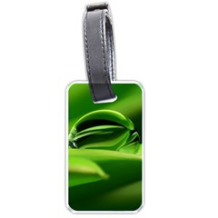 Waterdrop Luggage Tag (one Side) by Siebenhuehner