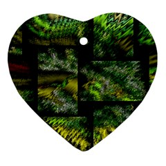 Modern Art Heart Ornament (two Sides) by Siebenhuehner