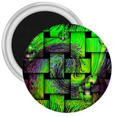 Modern Art 3  Button Magnet by Siebenhuehner