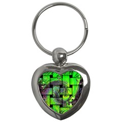 Modern Art Key Chain (heart) by Siebenhuehner