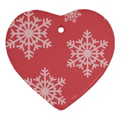 Let It Snow Heart Ornament (two Sides)