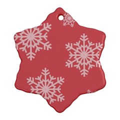 Let It Snow Snowflake Ornament