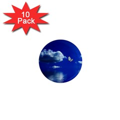 Sky 1  Mini Button Magnet (10 Pack) by Siebenhuehner