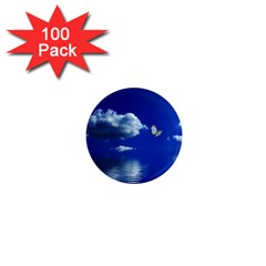 Sky 1  Mini Button Magnet (100 Pack) by Siebenhuehner