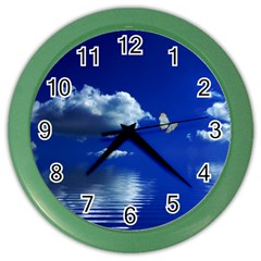 Sky Wall Clock (color) by Siebenhuehner