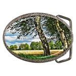 Trees Belt Buckle (Oval) Front