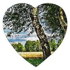 Trees Jigsaw Puzzle (heart) by Siebenhuehner