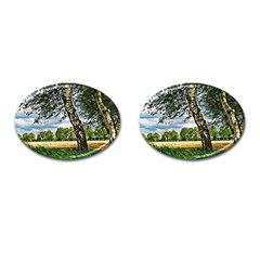 Trees Cufflinks (oval) by Siebenhuehner