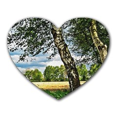 Trees Mouse Pad (heart)