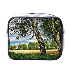 Trees Mini Travel Toiletry Bag (one Side) by Siebenhuehner