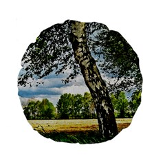 Trees 15  Premium Round Cushion  by Siebenhuehner