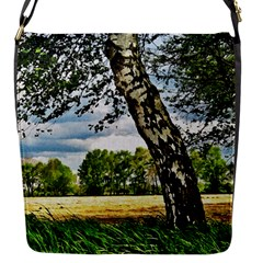 Trees Flap Closure Messenger Bag (small)