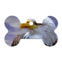 Bald Eagle Dog Tag Bone (two Sided) by Siebenhuehner