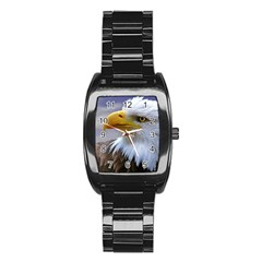 Bald Eagle Men s Stainless Steel Barrel Analog Watch