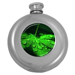 Waterdrops Hip Flask (round) by Siebenhuehner