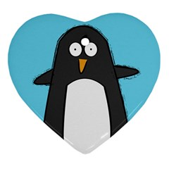 Hello Penguin Heart Ornament