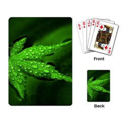 Leaf With Drops Playing Cards Single Design