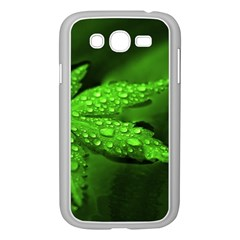 Leaf With Drops Samsung Galaxy Grand Duos I9082 Case (white) by Siebenhuehner