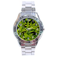 Bamboo Stainless Steel Watch (men s) by Siebenhuehner