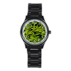 Bamboo Sport Metal Watch (black) by Siebenhuehner