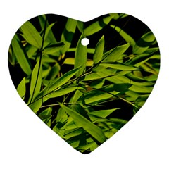 Bamboo Heart Ornament by Siebenhuehner