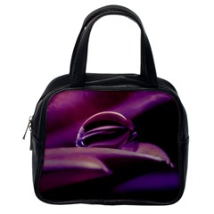 Waterdrop Classic Handbag (one Side) by Siebenhuehner