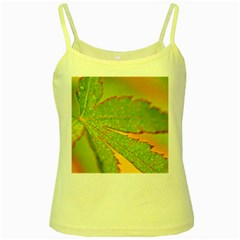 Leaf Yellow Spaghetti Tank
