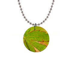 Leaf Button Necklace