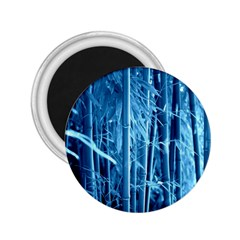 Blue Bamboo 2 25  Button Magnet by Siebenhuehner