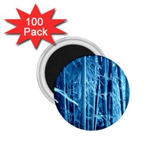 Blue Bamboo 1 75  Button Magnet (100 Pack) by Siebenhuehner
