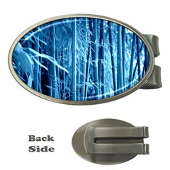 Blue Bamboo Money Clip (oval)