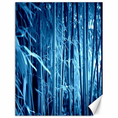 Blue Bamboo Canvas 12  X 16  (unframed) by Siebenhuehner