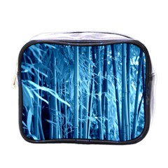 Blue Bamboo Mini Travel Toiletry Bag (one Side) by Siebenhuehner