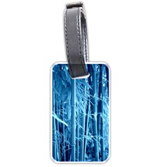 Blue Bamboo Luggage Tag (one Side) by Siebenhuehner