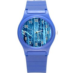 Blue Bamboo Plastic Sport Watch (small) by Siebenhuehner