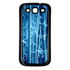 Blue Bamboo Samsung Galaxy S3 Back Case (black) by Siebenhuehner