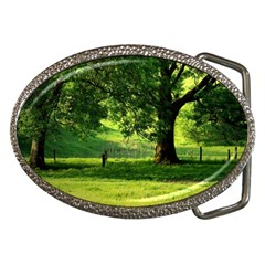 Trees Belt Buckle (oval) by Siebenhuehner