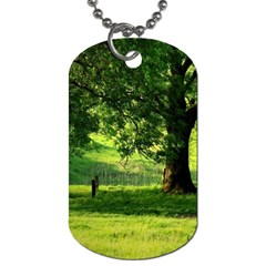Trees Dog Tag (one Sided) by Siebenhuehner