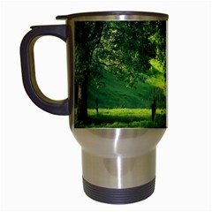 Trees Travel Mug (white) by Siebenhuehner