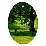Trees Oval Ornament (Two Sides) Back