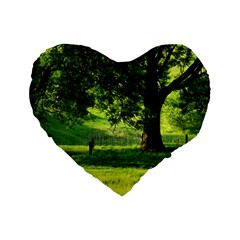 Trees 16  Premium Heart Shape Cushion  by Siebenhuehner