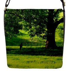 Trees Flap Closure Messenger Bag (small) by Siebenhuehner