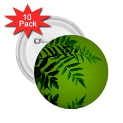 Leaf 2 25  Button (10 Pack)