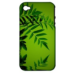 Leaf Apple Iphone 4/4s Hardshell Case (pc+silicone) by Siebenhuehner