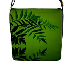Leaf Flap Closure Messenger Bag (large) by Siebenhuehner