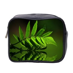 Leaf Mini Travel Toiletry Bag (two Sides) by Siebenhuehner
