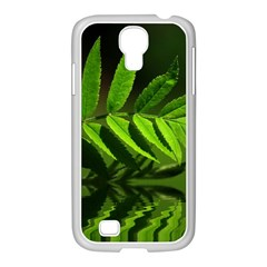 Leaf Samsung Galaxy S4 I9500/ I9505 Case (white) by Siebenhuehner