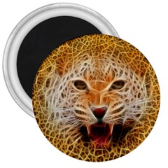 Jaguar Electricfied 3  Button Magnet by masquerades