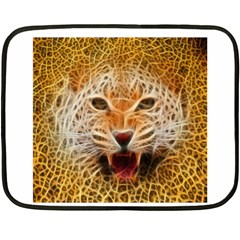 Jaguar Electricfied Mini Fleece Blanket (two Sided) by masquerades