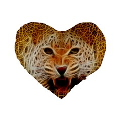 Jaguar Electricfied 16  Premium Heart Shape Cushion  by masquerades